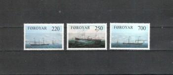 ( 009schiffe ) Daenemark - Faroer Michelnummer 79 - 81 postfrisch