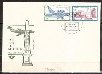 DDR Michelnummer 1703 - 1704 FDC