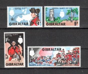 Gibraltar Michelnummer 207 - 210 postfrisch