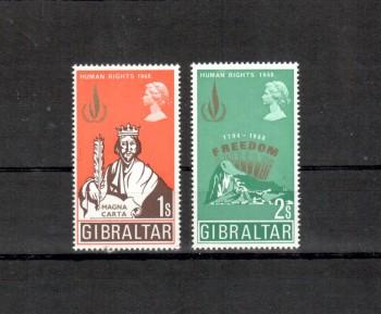Gibraltar Michelnummer 217 - 218 postfrisch