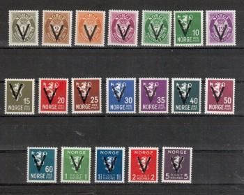 Norwegen Michelnummer 237 - 256 y postfrisch