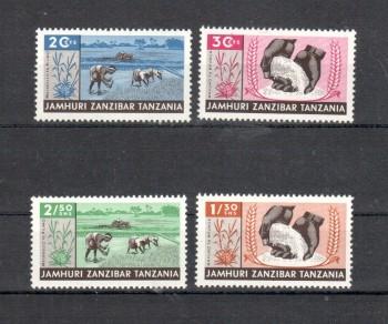 Sansibar Michelnummer 320 - 323 postfrisch