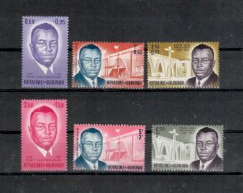 Burundi Michelnummer 42 - 47 A postfrisch