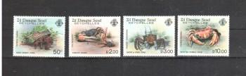 Aeussere Seychellen 84 - 87 postfrisch