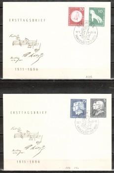 DDR Michelnummer 857 - 860 FDC