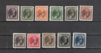 Luxemburg Michelnummer Dienst 138 - 148 postfrisch Falz/ohne Gummi