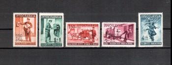 Jugoslawien Michelnummer 408 - 412 (leider die erste Falzrest) postfrisch