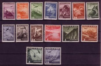 Oesterreich Michelnummer 598 - 612 postfrisch