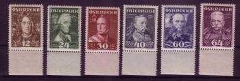 Oesterreich Michelnummer 617 - 622 postfrisch