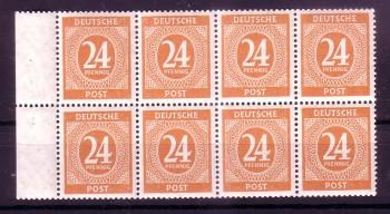 Allierte Besetzung Michelnummer H - Blatt 124 postfrisch
