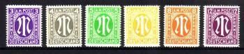 AM - Post Michelnummer  1 - 9 postfrisch
