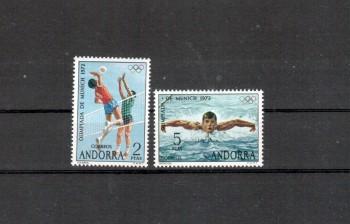 Andorra,span. Michelnummer 76 - 77 postfrisch