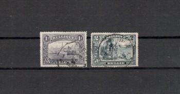 Belgien Michelnummer 125 - 126 gestempelt