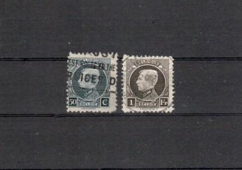 Belgien Michelnummer 166 - 167 gestempelt