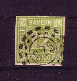 Bayern Michelnummer 12 gestempelt gepr