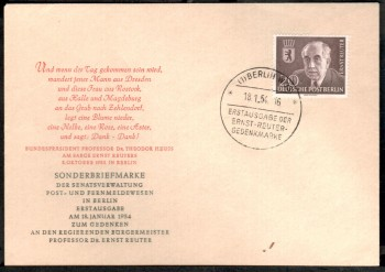 (intern:017 ) Berlin Michelnummer 115 amtlicher FDC