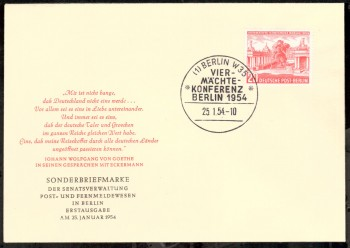 (intern:018 ) Berlin Michelnummer 116 amtlicher FDC