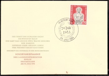 (intern:019 ) Berlin Michelnummer 119 amtlicher FDC