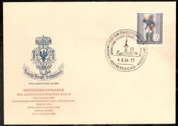 (intern:020 ) Berlin Michelnummer 120 amtlicher FDC