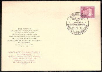 (intern:022 ) Berlin Michelnummer 122 amtlicher FDC