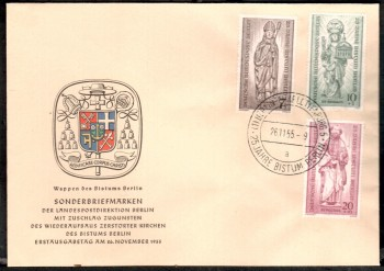 (intern:029 ) Berlin Michelnummer 132 - 134 amtlicher FDC
