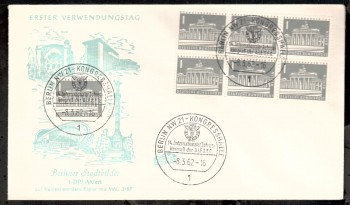 (intern:030 ) Berlin Michelnummer 140 y FDC