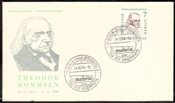 (intern:033 ) Berlin Michelnummer 163 FDC