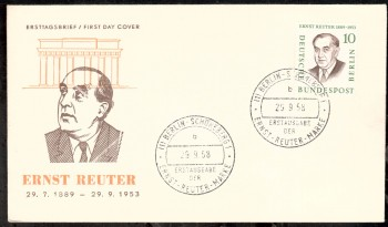 (intern:034 ) Berlin Michelnummer 165 FDC