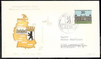 (intern:069 ) Berlin Michelnummer 236 FDC
