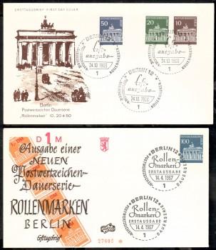 (intern:087 ) Berlin Michelnummer 286 - 290 FDC