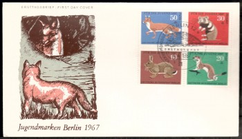 (intern:094 ) Berlin Michelnummer 299 - 302 FDC