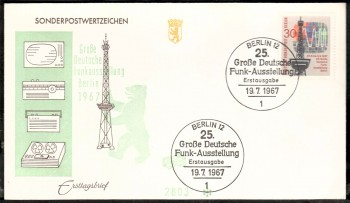 (intern:097 ) Berlin Michelnummer 309 FDC
