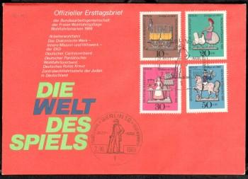(intern:107 ) Berlin Michelnummer 322 - 325 FDC