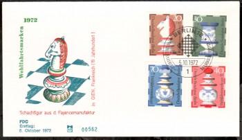 (intern:146 ) Berlin Michelnummer 435 - 438 FDC