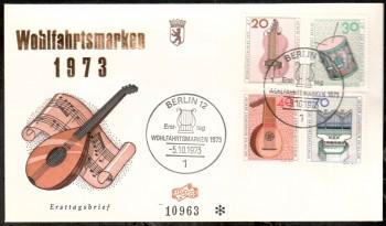 (intern:158 ) Berlin Michelnummer 459 - 462 FDC