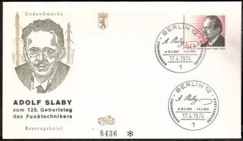 (intern:163 ) Berlin Michelnummer 467 FDC