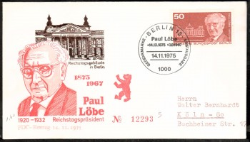 (intern:180 ) Berlin Michelnummer 515 FDC