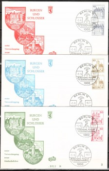 (intern:192 ) Berlin Michelnummer 532,534,536 CD FDC