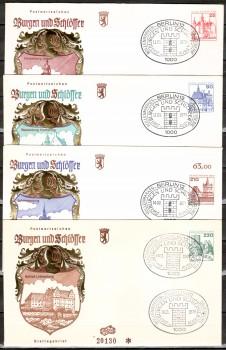 (intern:229 ) Berlin Michelnummer 587 - 590 FDC