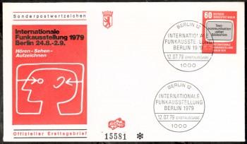 (intern:243 ) Berlin Michelnummer 600 FDC