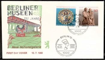 (intern:271 ) Berlin Michelnummer 625 - 626 FDC