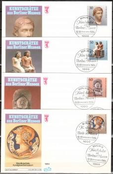 (intern:346 ) Berlin Michelnummer 708 - 711 FDC