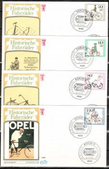 (intern:366 ) Berlin Michelnummer 735 - 738 FDC