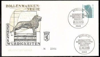 (intern:478 ) Berlin Michelnummer 863 FDC