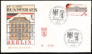 (intern:481 ) Berlin Michelnummer 867 FDC