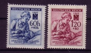 Boehmen und Maehren Michelnummer 111 - 112 postfrisch