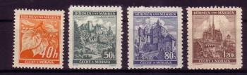 Boehmen und Maehren Michelnummer 38 - 41 postfrisch