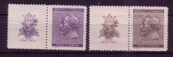 Boehmen und Maehren Michelnummer 73 - 74 Zierfeld postfrisch