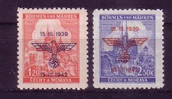 Boehmen und Maehren Michelnummer 83 - 84 postfrisch