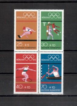 BRD Michelnummer 734 - 737 Viererblock postfrisch